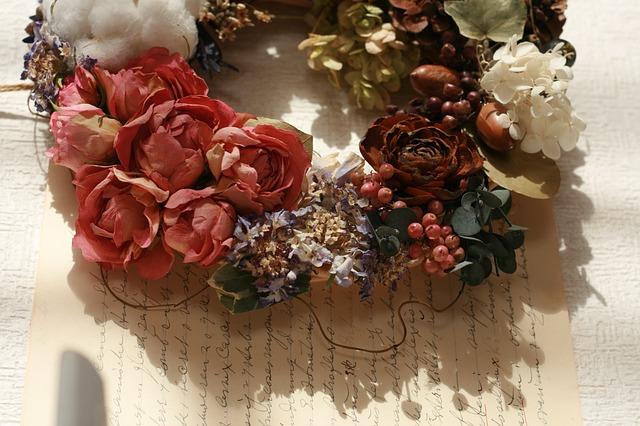 Sběr květin na sušení
